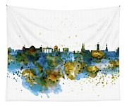 Berlin Watercolor Skyline Tapestry