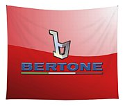 Bertone 3 D Badge On Red Tapestry
