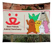 Best Friends Animal Sanctuary Angel Canyon Knob Utah Signage 03 Tapestry