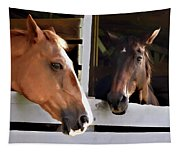 Best Friends Horse Chat Tapestry