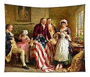 Betsy Ross And General George Washington Tapestry