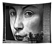 Between Closed Doors Bw Tapestry