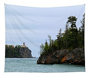 Between Rocks Panorama Tapestry