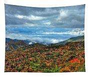 Between The Clouds Blue Ridge Parkway North Carolina Art Tapestry