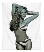 Beyonce Cutout Art Tapestry