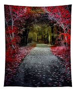 Beyond The Red Leaves Tapestry
