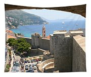Beyond The Walls Of Old Dubrovnik Tapestry