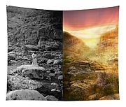 Bible - Psalm 23 - Yea, Though I Walk Through The Valley 1920 - Side By Side Tapestry