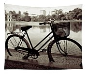 Bicycle By The Lake Tapestry