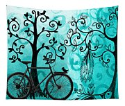 Bicycle In Whimsical Forest Tapestry