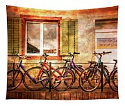 Bicycle Line-up Tapestry
