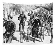 Bicyclist Meeting, 1884 Tapestry