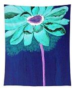 Big Aqua Flower Tapestry