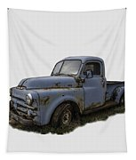 Big Blue Dodge Alone Tapestry