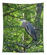 Big Blue In Green Tree Tapestry