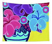 Big Colorful Lillies Tapestry