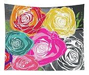 Big Colorful Roses 2- Art By Linda Woods Tapestry
