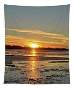 Big Marsh Sunset 4 Tapestry