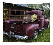 Big Red Ford Truck Tapestry