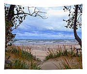 Big Waves On Lake Michigan 2.0 Tapestry
