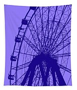 Big Wheel Blue Tapestry