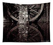 Big Wheel In Bw Tapestry