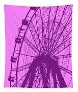Big Wheel Purple Tapestry