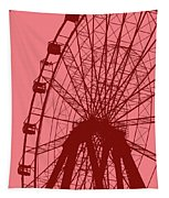 Big Wheel Red Tapestry