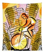 Bike And The City Tapestry