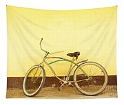 Bike And Yellow Wall Tapestry