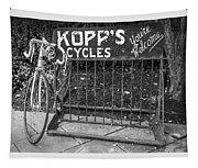 Bike At Kopp's Cycles Shop In Princeton Tapestry