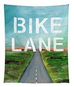 Bike Lane- Art By Linda Woods Tapestry