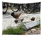 Biker Chicks Tapestry