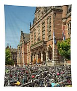 Bikes In Front Of Dutch University Tapestry