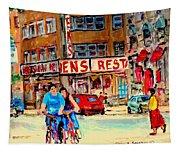 Biking  Past Ben Tapestry
