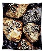 Biking Trail Scene Tapestry