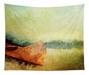 Birch Bark Canoe At Rest Tapestry