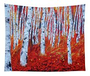 Birch In Gold Tapestry