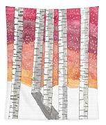 Birch In The Snow Tapestry