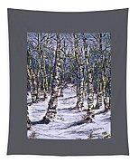 Birch Tree Mosaic 2 Tapestry