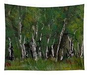Birch Tree Panorama Tapestry