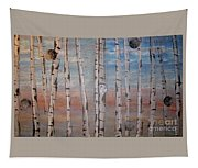Birch Trees - Clouds Tapestry