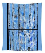 Birch Trees - Blue Tapestry