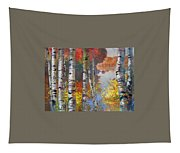 Birch Trees By The Lake Tapestry