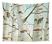 Birch Trees In Late Autumn Tapestry