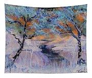 Birch Trees On The Ridge 2 Tapestry