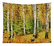 Birches And Spruces Tapestry