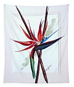 Bird Of Paradise Lily Tapestry