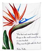 Bird Of Paradise Poem Tapestry
