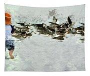Bird Play Tapestry